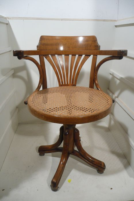 desk chair made home depot beach chairs ligna wooden after thonet model second half of the 20th