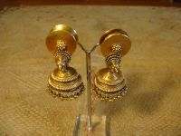 old North Indian 18 Kt gold earrings - early to mid XX C ...