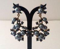 Oscar De La Renta - Faux Black Pearl Blue Sapphire Crystal ...