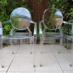 Ghost Chairs Large Chair Slipcover Philippe Starck For Kartell 2 Louis Catawiki