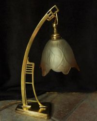 Art Deco wall lamp made of bronze - Catawiki