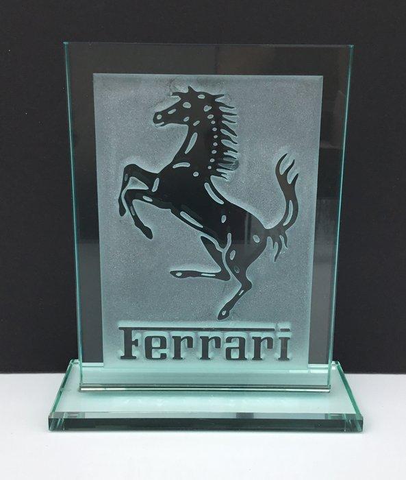 rare glass ferrari emblem