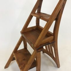 Wooden Library Chair Gaming Rocker Ladder Second Half Of 20th Century Catawiki