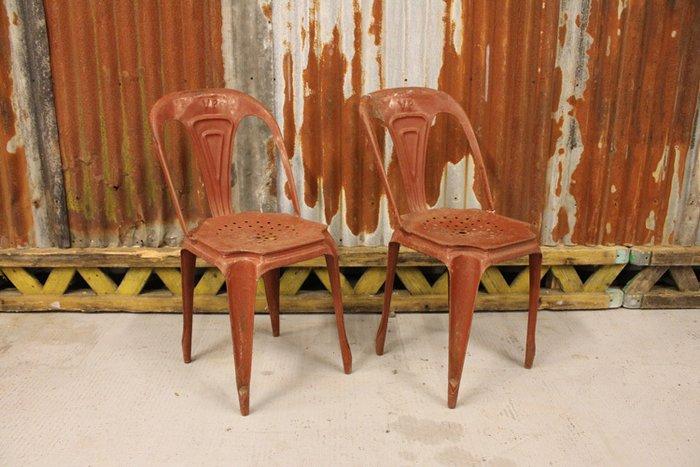metal bistro chairs directors chair walmart fibrocit set of two 1950s catawiki