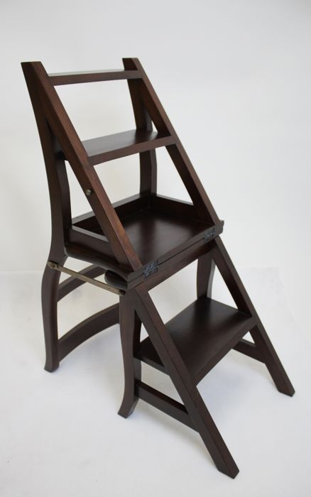wooden library chair king tuts ladder second half of 20th century double function