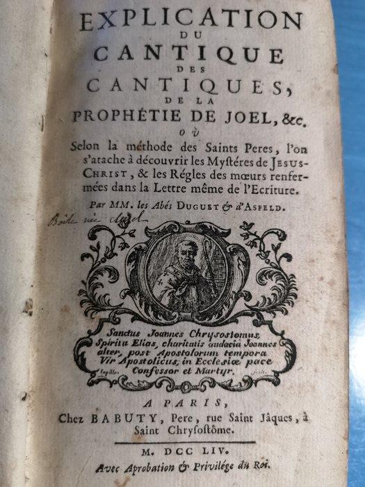 Le Cantique Des Cantiques Explication : cantique, cantiques, explication, Duguet, Asfeld, Explication, Cantique, Catawiki