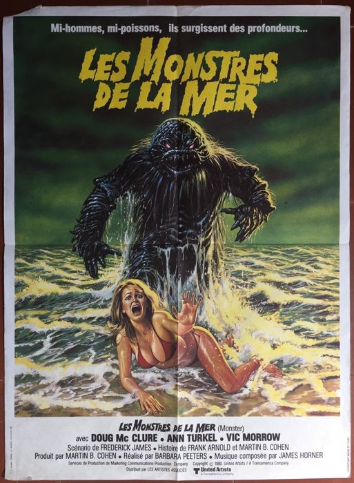 Les Monstres De La Mer : monstres, Monstres, Humanoids, Affiche, Catawiki