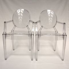 Ghost Chairs Cream Cotton Chair Covers Philippe Starck For Kartell 2 Louis Catawiki