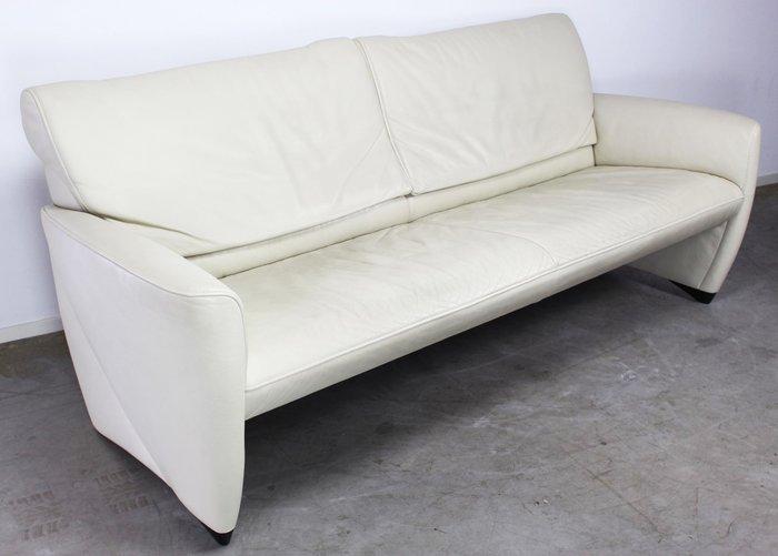 Wit Lederen Design Bank