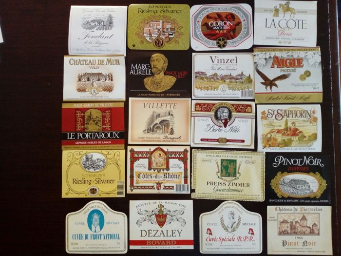 500 wine labels collection