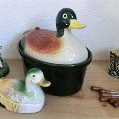 Kitchen Pottery Canisters Toy Sets 套与鹿和灰鼠的厨房烤箱陶罐鸭子 石器 艺术装饰 Catawiki 艺术