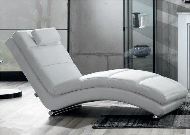 tomasucci chaise longue blanc en cuir