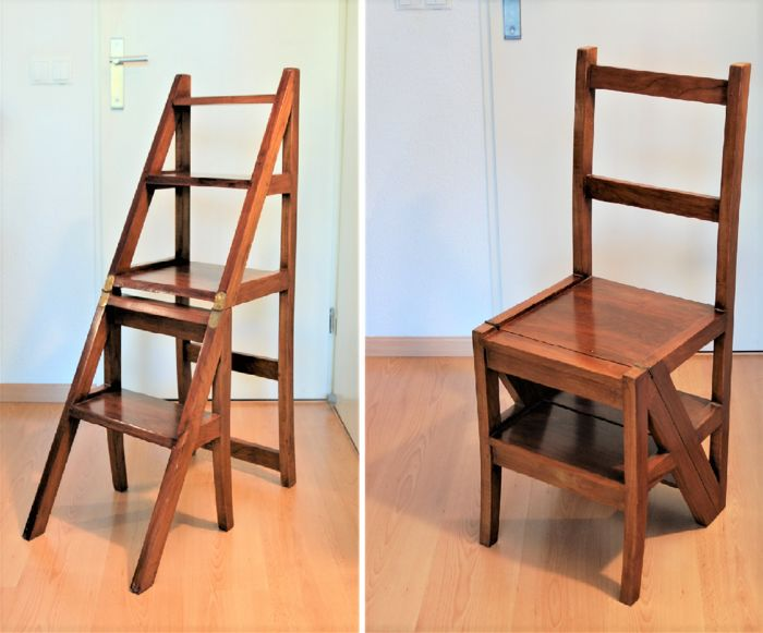 library chair ladder high bar stool chairs and in one catawiki