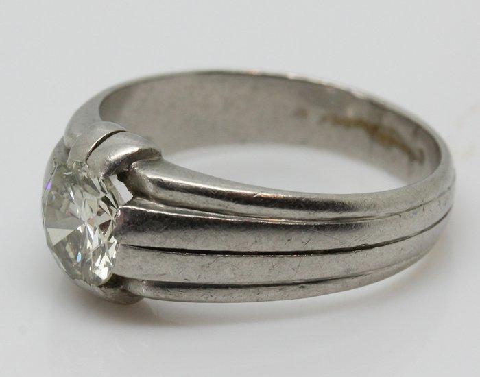 Platin  Ring  130 ct Diamant  Catawiki