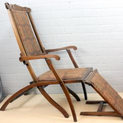 Folding Chair With Footrest En Espanol And Carving Catawiki
