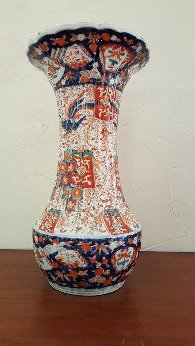 Large ribbed vase (40 cm) in Imari porcelain - Japan - Mid 19th century - Catawiki