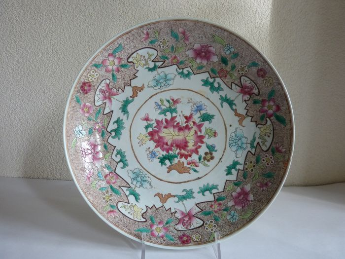 Charger - Famille rose - Porcelain - China - 19th century - Catawiki