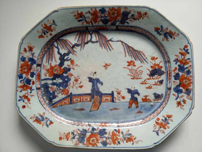 A Large Chinese Export Porcelain octagonal Imari Platter - Porcelain - China - Qianlong (1736-1795) - Catawiki