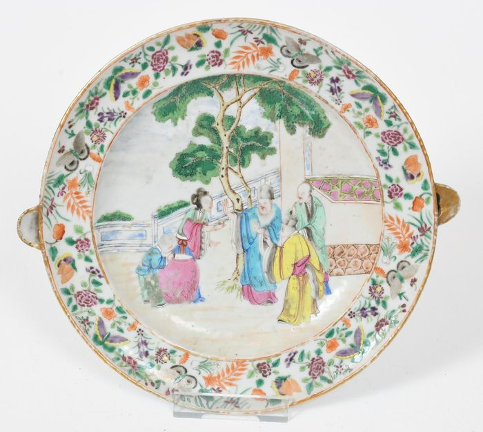 Hot water plate - Canton, Famille rose - Porcelain - China - Early 19th c - Catawiki