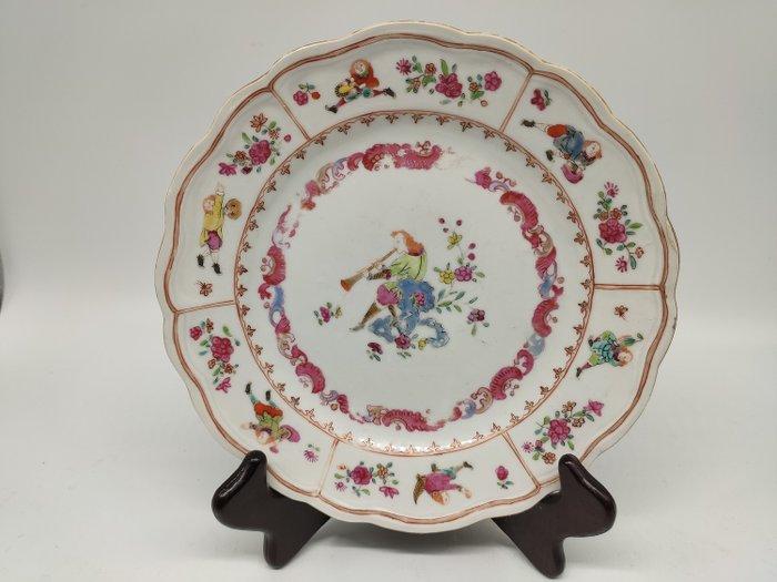 Dish - Famille rose - Porcelain - character - China - 18th century - Catawiki