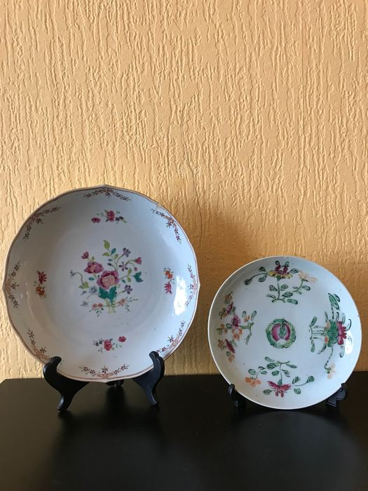 famille rose plate (2) - Porcelain - China - Qing Dynasty (1644-1911) - Catawiki
