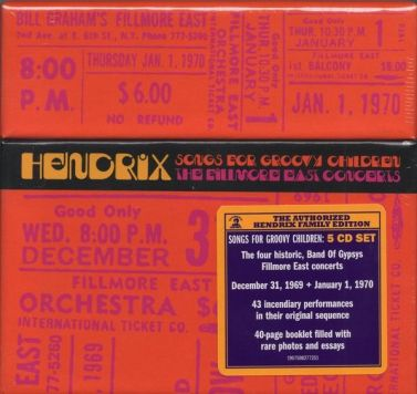 Resultado de imagen de Jimi Hendrix & The band of Gypsies - Songs for Groovy Children: The Fillmore East Concerts