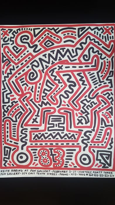 keith haring poster for fun gallery