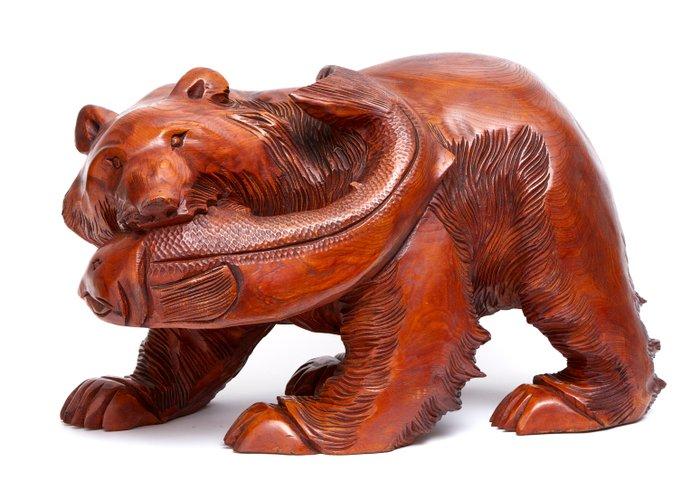 Big wooden (keyaki - zelkova) bear - Wood - Japan - Shōwa period (1926-1989) - Catawiki