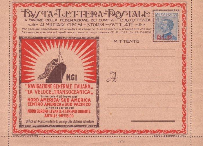 Italy Kingdom 1921 1923 4 New Blp Envelopes Sassone