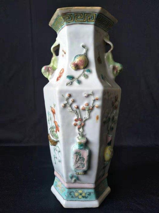 Vase - Famille rose - Porcelain - vase, flowers - China - 19th century - Catawiki