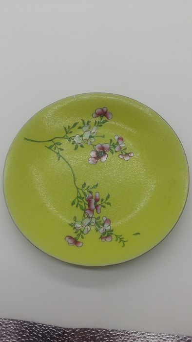 Plate - Famille jaune - Porcelain - Flowers - China - XIX century - Catawiki