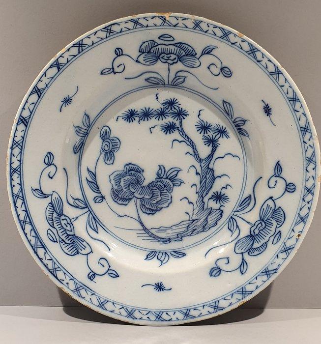 Delfts aardewerk - Plate, Qianlong Decor (1) - Fayence - Catawiki