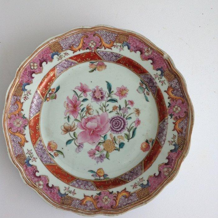 dish of indian companies (1) - Floral - Porcelain - China - Qianlong (1736-1795) - Catawiki