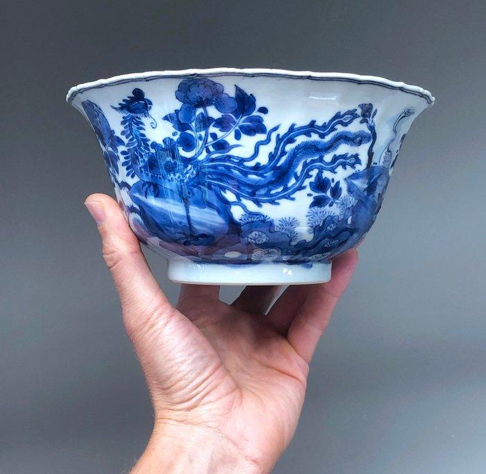"""Klapmuts"" Bowl Ø19,5cm - Blue and white - Porcelain - Phoenix - China - Kangxi (1662-1722) - Catawiki"