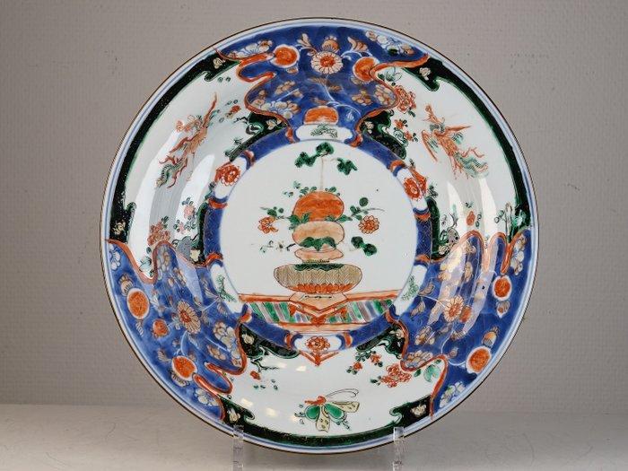 Charger - Imari verte - Porcelain - China - Kangxi (1662-1722) - Catawiki