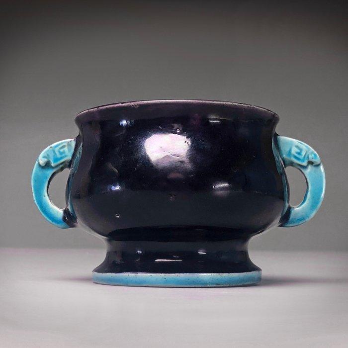 Censer, Incence Burner - Fahua type glaze - Porcelain - China - Kangxi (1662-1722) - Catawiki