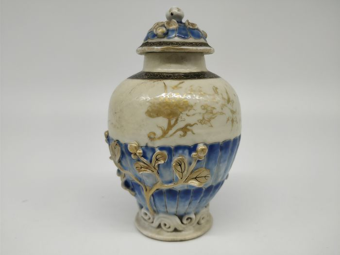 Tea caddy, covered vase - Famille rose - Porcelain - Flowers - China - 18th century - Catawiki