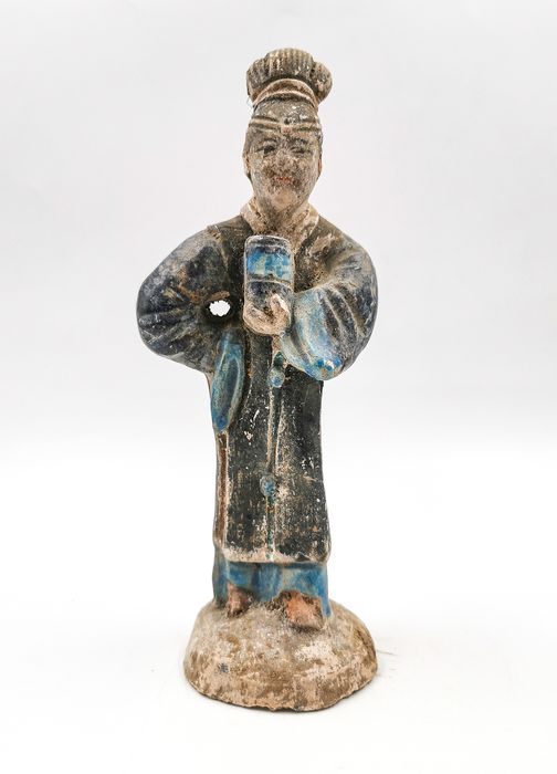Ancient Chinese Ming Dynasty Glazed Terracotta Court Lady Statue - Catawiki