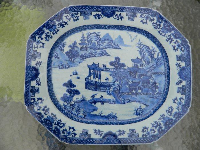 Dish - Blue and white - Porcelain - China - Qianlong (1736-1795) - Catawiki