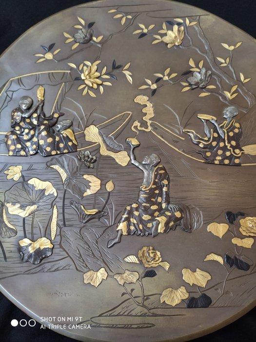Dish - Brass, Gilt brass - Japan - Meiji period (1868-1912) - Catawiki