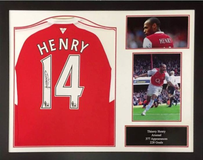 thierry henry framed hand signed