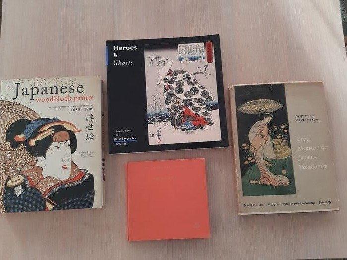 """Book, """"Heroes & Ghosts Japanese prints by Kuniyoshi""""; """"Japanese woodblock prints"""" - Andreas Marks (4) - """"Art of the east library, SHARAKU""""; """"Grote meesters der Japanse Prentkunst"""" J. Hillier - 1954-2010 - Japan - Catawiki"""