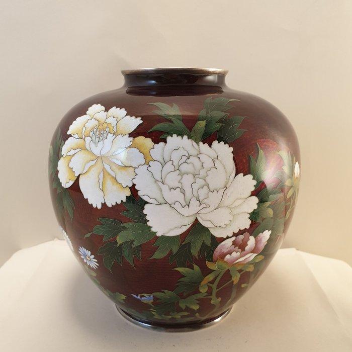 Jar (1) - Floral - Cloisonne enamel - marked Sato - Japan - ca. 1940-1950 Showa period - Catawiki