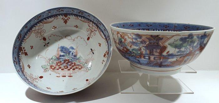 Bowl (2) - Amsterdam Bont - Porcelain - Flowers - Amsterdam Bont bowls Ø20 CM - China - Qianlong (1736-1795) - Catawiki