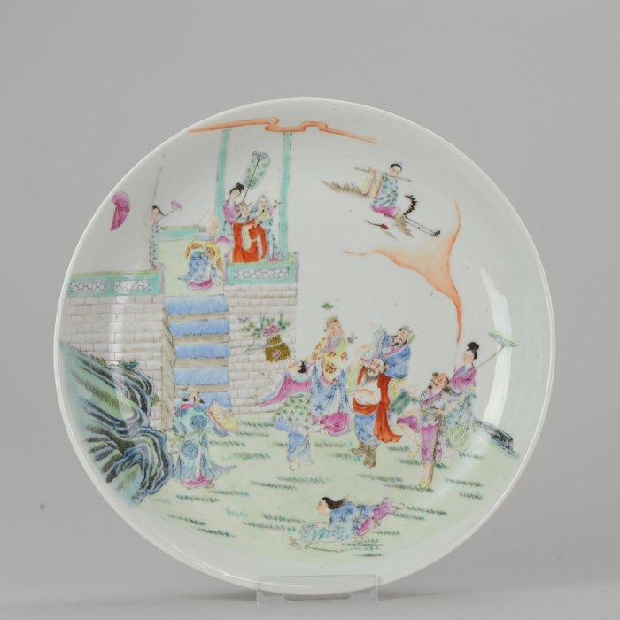 Plate - Porcelain - Mark - IMMORTALS - China - Republic period (1912-1949) - Catawiki