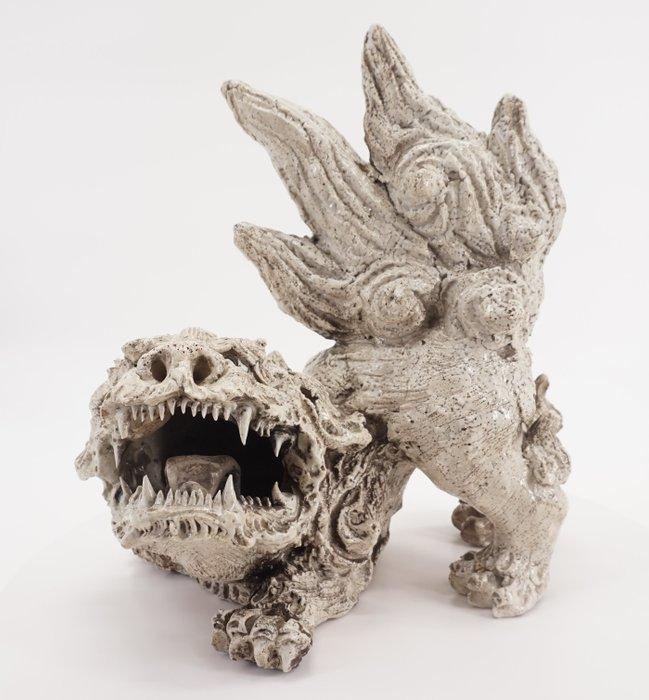 Sculpture - Ceramic - sandō komainu - 参道狛犬, signed DAINITISO NOBOAISAKU - Japan - Late Edo period - Catawiki