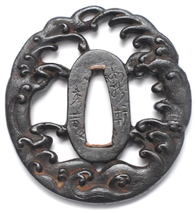 Tsuba - Cast iron - Japan - Edo Period (1600-1868) - Catawiki