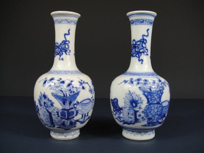 Two vases - Porcelain - China - 18th century - Catawiki