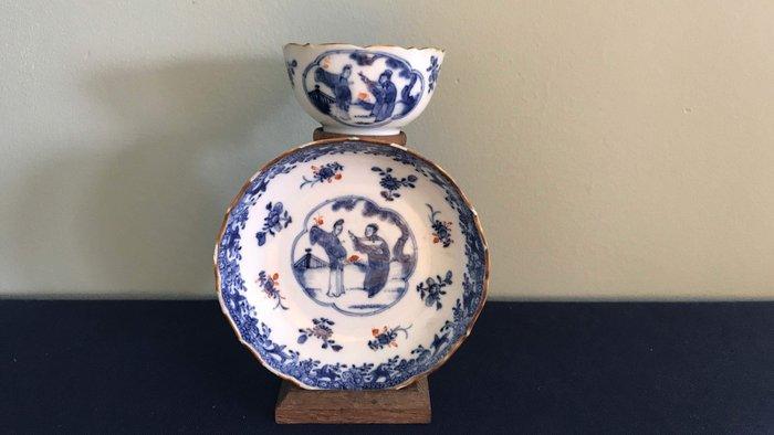 Cup and saucer (2) - Porcelain - China - Qianlong (1736-1795)