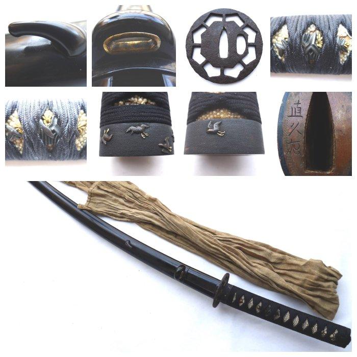 Beautiful sign 直久作 (naohisa saku) Long Koshirae for long katana sword with cover - Mix material - Japan - Edo Period (1600-1868) - Catawiki